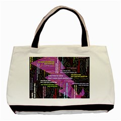 Pain Pain Go Away Twin Sided Black Tote Bag by FunWithFibro