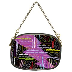 Pain Pain Go Away Chain Purse (two Sided)  by FunWithFibro