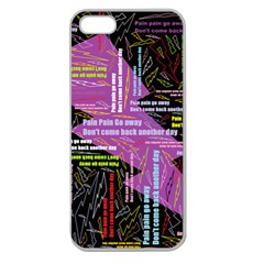 Pain Pain Go Away Apple Seamless Iphone 5 Case (clear)