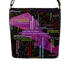 Pain Pain Go Away Flap Closure Messenger Bag (large) by FunWithFibro