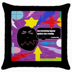 Excruciating Agony Black Throw Pillow Case