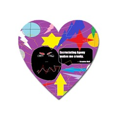 Excruciating Agony Magnet (heart) by FunWithFibro