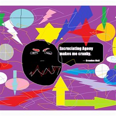 Excruciating Agony Canvas 12  X 12  (unframed) by FunWithFibro