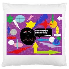 Excruciating Agony Large Cushion Case (single Sided)  by FunWithFibro