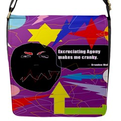 Excruciating Agony Flap Closure Messenger Bag (small)