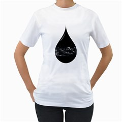 A Drop In A Sea Of Stars  Women s T Shirt (white)