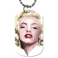 Marilyn Dog Tag (two Sided)  by malobishop