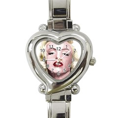 Marilyn Heart Italian Charm Watch