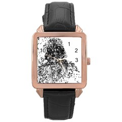 Darth Vader Rose Gold Leather Watch  by malobishop