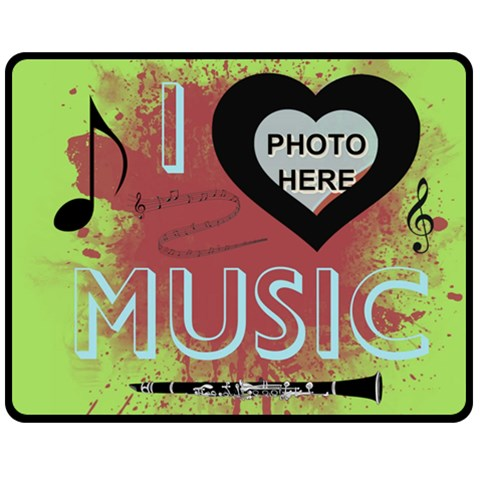 Music Medium Blanket By Joy Johns   Fleece Blanket (medium)   G8z7utm4q37g   Www Artscow Com 60 x50 Blanket Front