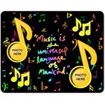 Music medium blanket #2 - Fleece Blanket (Medium)