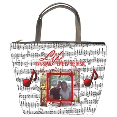 Music Bucket Bag #2 By Joy Johns   Bucket Bag   Vfplvq3tw48c   Www Artscow Com Front