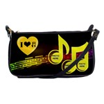 Music shoulder clutch bag