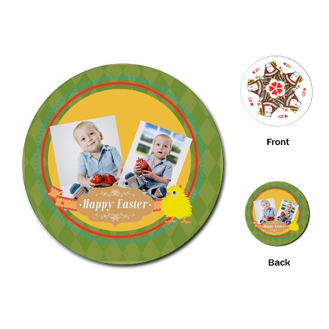 Easter By Easter   Playing Cards (round)   Myp33fbrc395   Www Artscow Com Front