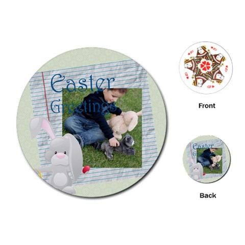 Easter By Easter   Playing Cards (round)   Uknu1bqlla6y   Www Artscow Com Front
