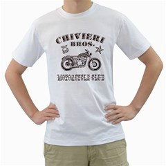Chivieri Bros  Motorcycle Club Men s T Shirt (white)