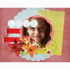 Love 2015 By Joely   Wall Calendar 11  X 8 5  (12 Months)   9pgzri07ye1a   Www Artscow Com Month
