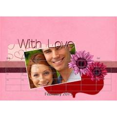 Love By Joely   Desktop Calendar 8 5  X 6    Zbea7m9di60r   Www Artscow Com Feb 2015