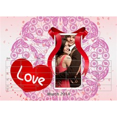 Love By Joely   Desktop Calendar 8 5  X 6    Zbea7m9di60r   Www Artscow Com Mar 2014