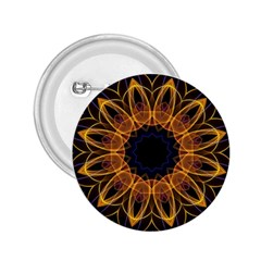 Yellow Purple Lotus Mandala 2 25  Button by Zandiepants