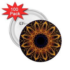 Yellow Purple Lotus Mandala 2 25  Button (100 Pack) by Zandiepants