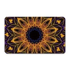 Yellow Purple Lotus Mandala Magnet (rectangular) by Zandiepants
