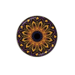 Yellow Purple Lotus Mandala Golf Ball Marker 10 Pack (for Hat Clip) by Zandiepants