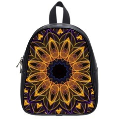 Yellow Purple Lotus Mandala School Bag (small) by Zandiepants