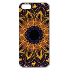 Yellow Purple Lotus Mandala Apple Seamless Iphone 5 Case (clear) by Zandiepants