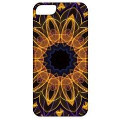 Yellow Purple Lotus Mandala Apple iPhone 5 Classic Hardshell Case by Zandiepants