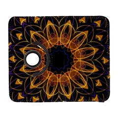 Yellow Purple Lotus Mandala Samsung Galaxy S  Iii Flip 360 Case by Zandiepants