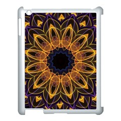 Yellow Purple Lotus Mandala Apple Ipad 3/4 Case (white) by Zandiepants