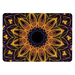 Yellow Purple Lotus Mandala Samsung Galaxy Tab 8 9  P7300 Flip Case