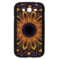 Yellow Purple Lotus Mandala Samsung Galaxy Grand Duos I9082 Case (black) by Zandiepants