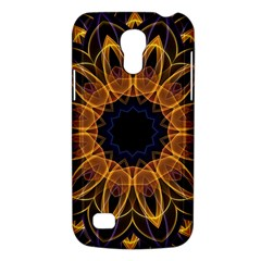 Yellow Purple Lotus Mandala Samsung Galaxy S4 Mini (gt I9190) Hardshell Case  by Zandiepants