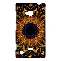 Yellow Purple Lotus Mandala Nokia Lumia 720 Hardshell Case by Zandiepants