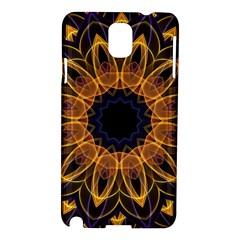 Yellow Purple Lotus Mandala Samsung Galaxy Note 3 N9005 Hardshell Case