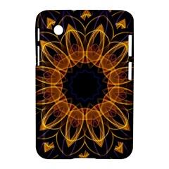 Yellow Purple Lotus Mandala Samsung Galaxy Tab 2 (7 ) P3100 Hardshell Case  by Zandiepants