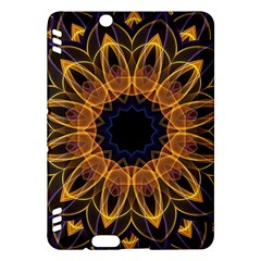 Yellow Purple Lotus Mandala Kindle Fire Hdx 7  Hardshell Case by Zandiepants