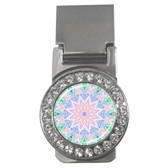 Soft Rainbow Star Mandala Money Clip (cz) by Zandiepants