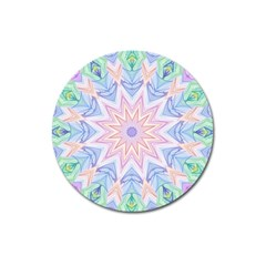 Soft Rainbow Star Mandala Magnet 3  (round) by Zandiepants