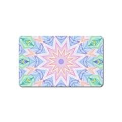 Soft Rainbow Star Mandala Magnet (name Card) by Zandiepants