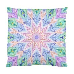 Soft Rainbow Star Mandala Cushion Case (two Sided)  by Zandiepants