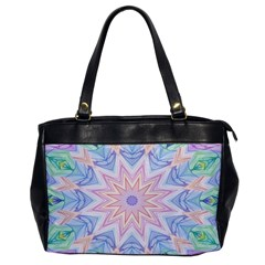 Soft Rainbow Star Mandala Oversize Office Handbag (one Side) by Zandiepants