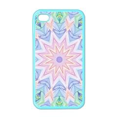 Soft Rainbow Star Mandala Apple Iphone 4 Case (color) by Zandiepants