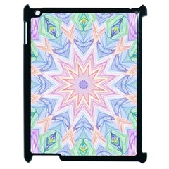 Soft Rainbow Star Mandala Apple Ipad 2 Case (black) by Zandiepants