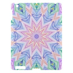 Soft Rainbow Star Mandala Apple Ipad 3/4 Hardshell Case by Zandiepants