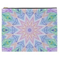Soft Rainbow Star Mandala Cosmetic Bag (xxxl) by Zandiepants