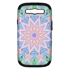 Soft Rainbow Star Mandala Samsung Galaxy S Iii Hardshell Case (pc+silicone) by Zandiepants