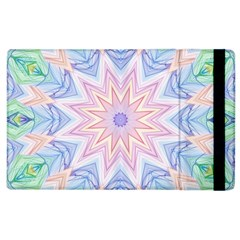 Soft Rainbow Star Mandala Apple Ipad 2 Flip Case by Zandiepants